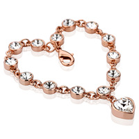 Bracelet fashion love female crystal rose gold color gold jewelry lovers accessories gift