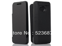 Newest 3800mAh Cubic Texture Power Bank Battery Charger Case w/ Front Leather Cover for HTC One M7 801e, Free Shipping