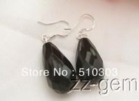 Onyx Earrrings-925 Silver Hook