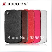 Free shipping HOCO Duke Genuine Real Leather Flip Smart opening Case Cover Skin for Samsung Galaxy S4 S IV i9500