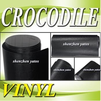Black Crocodile skin fim for wrap car