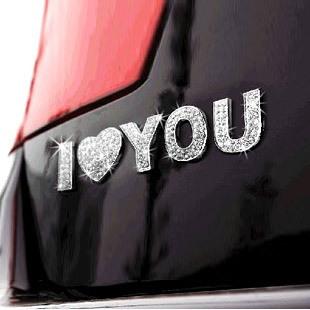 Car rhinestone stickers rhinestone letter stickers letter car stickers letter stickers single