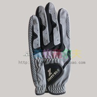 FREE SHIPPING Kanakin golf gloves silica gel slip-resistant , grey white , male , soft and breathable