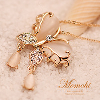 Vintage - eye butterfly short necklace female short design chain fashion