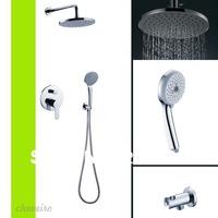 Copper Bathroom Shower Hotels Faucet Handles Bath Mixer Shower Set Water Tap lanos torneira chuveiro benhairo grifos ducha