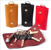 Hot sell Free shipping PU key bag PU Leather key case(6 *10.2*1.5CM) Fashion Key holder 4 color can choose 4 pcs\lot
