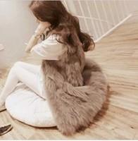 2013 women's new fashion  faux rabbit fur vest female outerwear fox fur long waistcoat design vest
