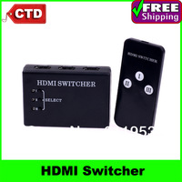 3 Port Mini 1080p HDMI Switch Switcher HDMI Splitter Box for PS3 HDTV DVD with Remote