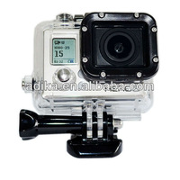 Free shipping Waterproof housing for Gopro Hero 3, Transparent, Blue, Green, Red, Pink,Gopro camera accessories GP28