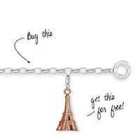 TB0251(Min.Order $15 ) 2013 New Items Thomas Style Gifts 925 Silver Plated Bracelets Eiffel Tower Charm Bracelet Cheap Jewelry