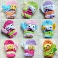 design random 2013 Winter child gloves 3D cartoon style baby  soft warm thermal mitten