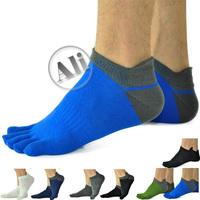 NEW Men Antibacterial Breathable Short Tube Cotton Five Toe Socks Sports socks  (Shoe size US 6.5 - 10 245-270mm) Free Shipping