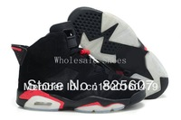 Free Shipping Retro VI 6 Mesh Men's Basketball Sport Footwear Sneakers Trainers Shoes - Black / Red / White