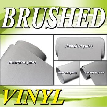 Silver  Brushed Aluminium car wrap vinyl  With 3M  bubbles 1.52x30M