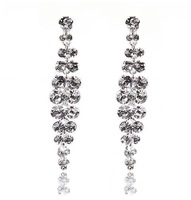 Cheap!! New wedding rhinestone earrings countless rich fruits crystal bridal earrings wholesale hot sale fashion jewelry