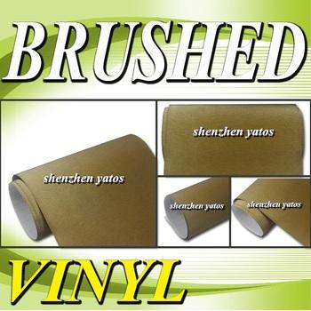 Gold  Brushed Aluminium pvc car sticker   With 3M  bubbles 1.52x30M