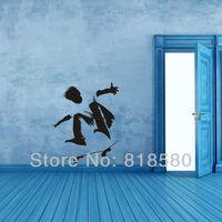 Free Shipping Home DecorSkateboard Boy Vinyl Wall Art Stickers Wall Decals(55 x 74cm/piece)