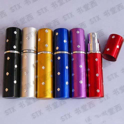 Best price 5ml Travel Refillable Perfume Atomizer, empty Perfume bottle,fragrance and perfume 100pcs(China (Mainland))