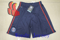 A+++  2013 2014 PSG Paris St German Home Blue Ibrahimovic Cavani New Soccer Shorts Football Kits Pants 100% Top Quality Thai