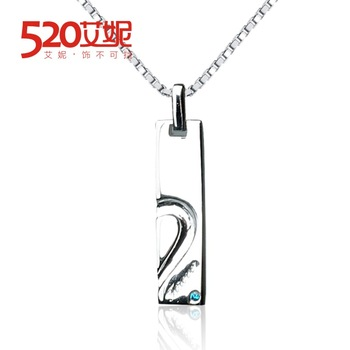520 925 pure silver necklace long short design chain fashion male pendant accessories