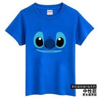 free shipping / S-XXL Lilo & Stitch women clothing T shirt men plus size casual shirt tops shirt women tee