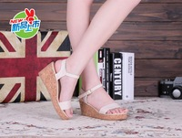 2013 summer wedges high-heeled sandals female brief size 30 31 32 33 34 - 41 42 43