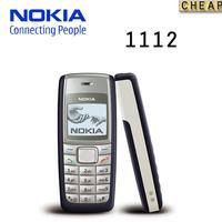 original Nokia 1112 unlocked GSM mobile phone with russian menu multi languages!free shipping Refurbished