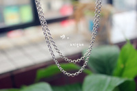 Handmade pure silver thai silver vintage necklace Men long necklace Women 925 pure silver pearl necklace