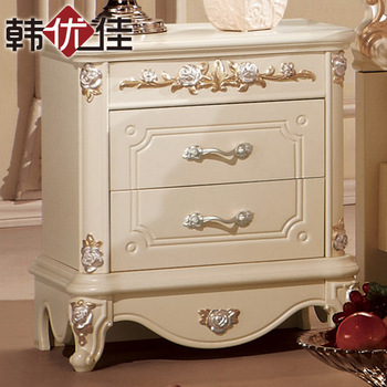 Furniture french rustic bedside cabinet luxury and fashion storage cabinet white bed side cabinet drawer