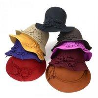 6pcs Mix Colors Beautiful Women Winter Wool Cloche Hats Fedora Hat Lady Fall Wool Bowler Caps Womens Spring Felt Dome Cap Derby