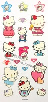 Cartoon Tattoo sticker, Waterproof Children Body Art, Temporary toy,Hello Kitty, Free shipping