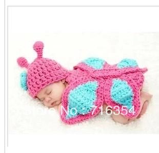 Photography crochet clothes newborn baby turtle hat handmade yarn