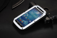 Samsung i9500 S4 three built-in protection metal shell mobile phone sets of silicone waterproof and dustproof shockproof fell