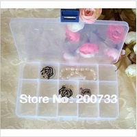 Free shipping plastic storage boxes 15 grids transparent  jewellery storage boxes removable box 2 pcs/lot