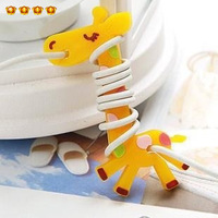 Cartoon animal cable winder p3 management-ray device p4 mobile phone headphones hub 1605