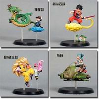 Free shipping DRAGON BALL Z figure PVC  dolls Goku toys Kakarot Super Saiyan The dragon Bulma