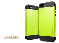 Latest style 11 colors design SLIM ARMOR SPIGEN SGP case for iPhone5 5G free shipping with retail package. MOQ:50 (PG5O172)