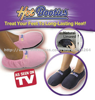 Free Shipping 120pairs/lot Microwave Hot Slippers As Seen On TV Hot Feet Microwave Slippers Foot Warmer 4 Colors doe your choose