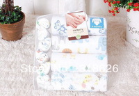High Quality 100% Cotton / 10 Pieces Infant Clothing Gift Sets /Baby Romper /Carters Blue / Pink / Yellow 6M/12M Free shipping!