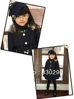 FREE SHIPPING! You Ready For the Coming Winter?Newest Style! Mama&Daughters' Overcoat.Sweet  Daughter's Uniform.Army Officer!