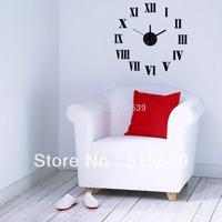 DIY Wall Clock 3D Roman Black Sticker Art Time Watch Novelty Antique Hours Gift  Home Decor Living Room Free Post 10E019