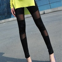 2013 women's spring and summer breathable milk, silk gauze patchwork ankle length legging trousers