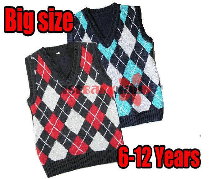 Boys Red Sweater Vest Vest 4pcs/lot Red/blue Boy