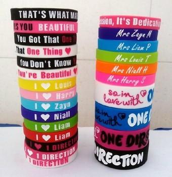 Hot Wholesale 1000pcs One Direction Justin Bieber Fashion basketball bracelet Silicone Wristband Bracelet Freee shipping