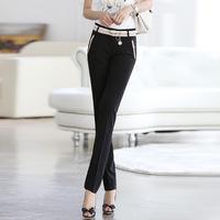 Женские брюки 2013 plus size winter thickening down plus velvet trousers fashion slim boot cut jeans pencil pants