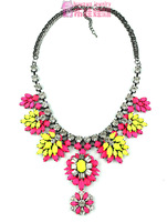 Free Shipping High quality luxury shourouk tantalising flower necklace n283