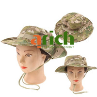 Durable Camouflage Fishing Hat Wide Brim Hunting / Hiking Outdoor Sun Cap--Light Camouflage