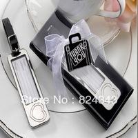 FREE SHIPPING+Elegant Chrome Luggage Tag Love Heart Handbag Tag Excellent Claim Tag Wedding Favors and Gift+50pcs/LOT