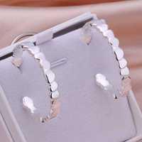 Free Shipping Wholesale 925 Silver Earring Fashion Sterling Silver Jewelry Fashion Heart Earrings SMTE284