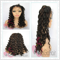 Free Shipping New Designer 1# And 30# Highlight Color 20 Inch Body Wave Front Lace Wigs Synthetic